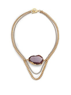 Janna Conner - Esmee Agate Multi-Chain Necklace/Purple