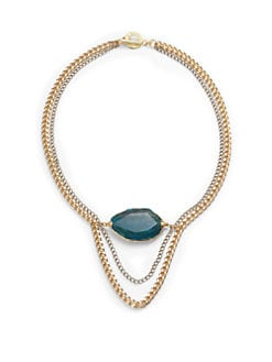 Janna Conner - Esmee Agate Multi-Chain Necklace/Blue