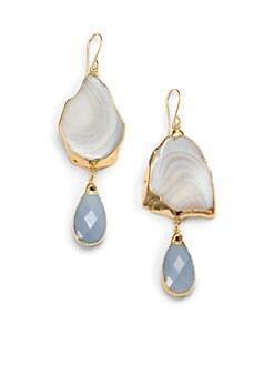 Janna Conner - Aurelia Agate & Jade Drop Earrings