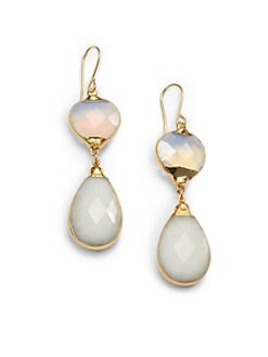 Janna Conner - Aurelie Opalite & Agate Teardrop Earrings