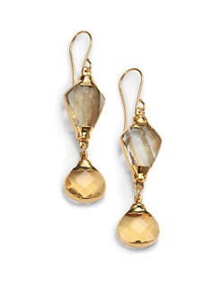 Janna Conner - Aurele Quartz Drop Earrings
