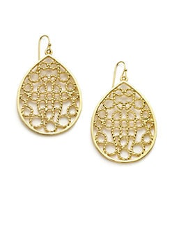 Harrison Morgan - Rope Openwork Teardrop Earrings