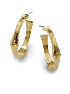 Harrison Morgan - Bamboo Hoop Earrings