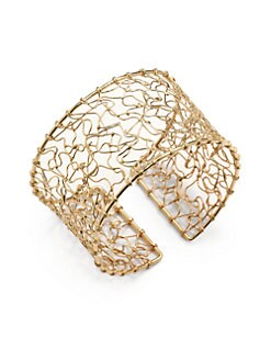 NuNu - 18K Gold Vermeil Abstract Wire Cuff Bracelet
