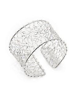 NuNu - Sterling Silver Abstract Wire Cuff Bracelet