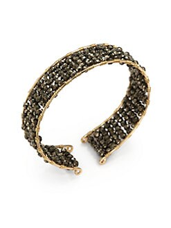 NuNu - Layered Cuff Bracelet/Gold Pyrite