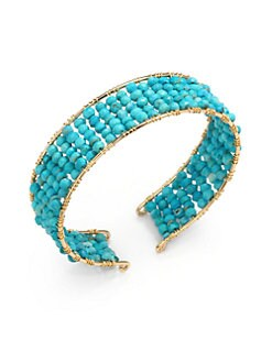NuNu - Layered Cuff Bracelet/Teal