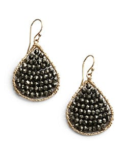 NuNu - Layered Teardrop Earrings/Smoke
