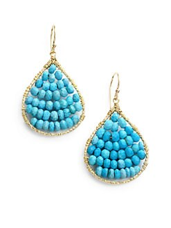 NuNu - Layered Teardrop Earrings/Teal