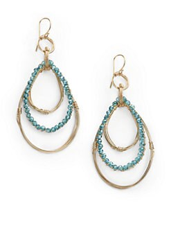 NuNu - Triple Teardrop Earrings/Blue