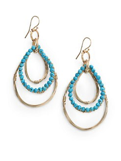 NuNu - Triple Teardrop Earrings/Teal