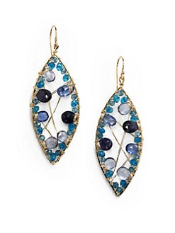 NuNu - Marquis Mixed Earrings/Blue
