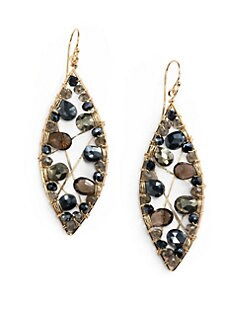 NuNu - Marquis Mixed Earrings/Smoke