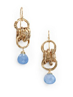 NuNu - Multi-Ring Teardrop Earrings/Blue