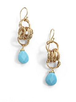 NuNu - Multi-Ring Teardrop Earrings/Teal