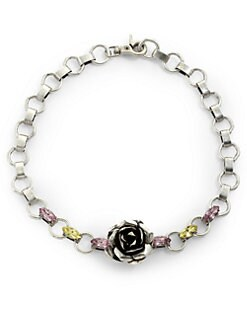 Susan Hanover Designs - Swarovski Crystal Rose Chainlink Necklace