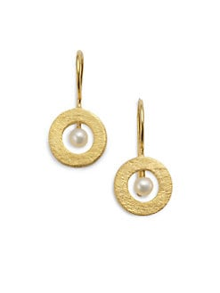 Rena Luxx - Open Circle & Pearl Earrings