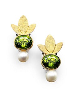 Rena Luxx - Exotic Floral Clip-On Earrings