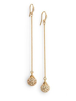 Carolee Lux - Pave Sphere Drop Earrings