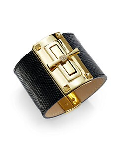 Carolee Lux - Wide Leather Cuff