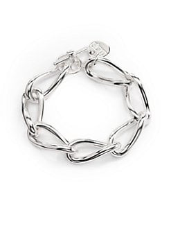 1AR by UNOAERRE - Twisted Anchor Link Bracelet/Silver