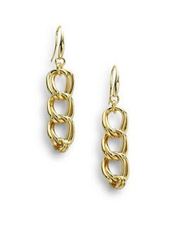 1AR by UNOAERRE - Twisted Double Link Drop Earrings