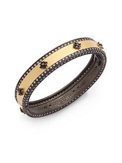 Belargo - Icon Double Pave Hinged Bangle