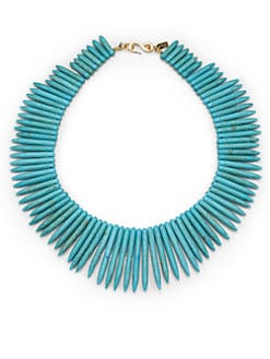 Kenneth Jay Lane - Sodalite Stick Collar Necklace