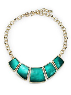 Kenneth Jay Lane - Enamel Geometric Bib Necklace