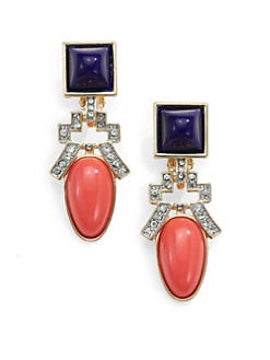 Kenneth Jay Lane - Deco Clip-On Drop Earrings