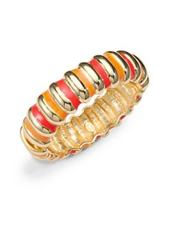 Kenneth Jay Lane - Two-Tone Enamel Ribbed Bracelet