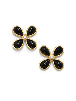 Belargo - Black Onyx Four-Point Stud Earrings
