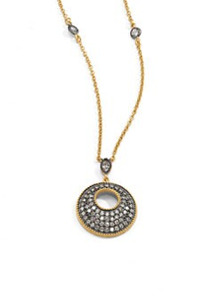 Belargo - Two-Tone Pave Open Circle Necklace