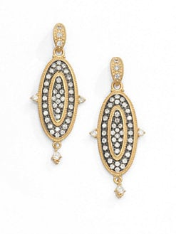 Belargo - Two-Tone Maltese Drop Earrings