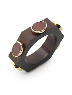 Isharya - Rosewood & Druzy Hexagon Bangle