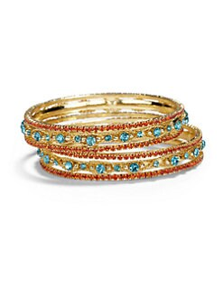 Chamak by Priya Kakkar - Crystal Bound Bangle Bracelet Set