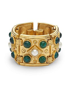 Ben Amun - Byzantine Link Bracelet/Green