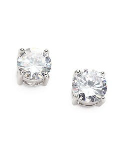 CZ by Kenneth Jay Lane - Brilliant-Cut Stud Earrings/Rhodium-Plated