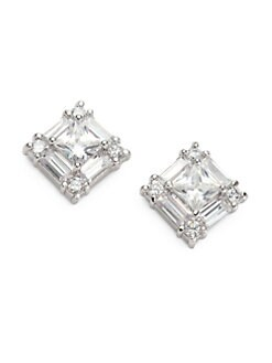 CZ by Kenneth Jay Lane - Cluster Stud Earrings