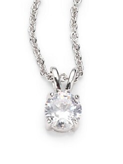 CZ by Kenneth Jay Lane - Brilliant-Cut Pendant Necklace