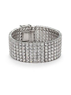 CZ by Kenneth Jay Lane - Pave Wide Bracelet