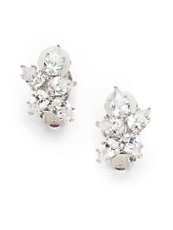 CZ by Kenneth Jay Lane - Cluster Petal Clip-On Earrings