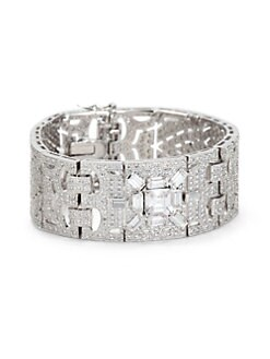CZ by Kenneth Jay Lane - Pave Cutout Sectional Bracelet