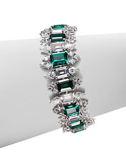 CZ by Kenneth Jay Lane - Emerald-Cut Link Bracelet