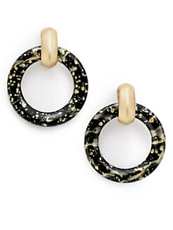 Kenneth Jay Lane - Drop Circle Earrings