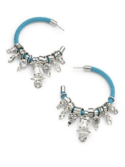 Noir - Crystal Hoop Earrings
