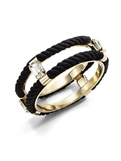 Noir - Double Cord Bangle