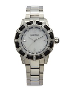 Valentino - Eden Black Onyx, Crystal & Stainless Steel Watch