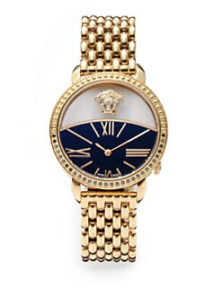 Versace - Krios Diamond & Stainless Steel Watch