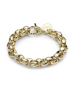 1AR by UNOAERRE - Textured Circle Chain Bracelet